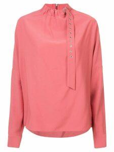 Tibi twill buckle Dolman blouse - PINK