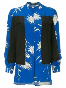 Haider Ackermann oversized colour-block blouse - Blue