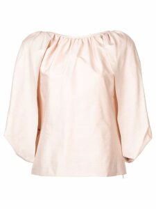 Gabriela Hearst draped flared blouse - Neutrals