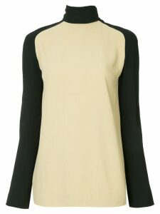 Haider Ackermann turtleneck bicolour blouse - NEUTRALS