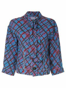 Marni contrast print fitted blouse - Blue