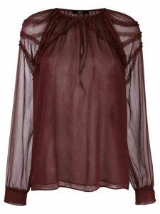 Steffen Schraut ruffle detail blouse - Red