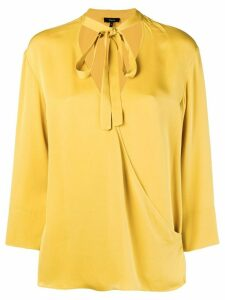 Theory tie front wrap blouse - Yellow