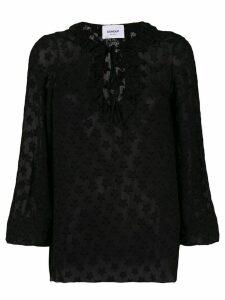 Dondup stars sheer blouse - Black