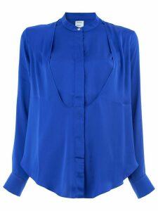 Maison Rabih Kayrouz crepe collarless blouse - Blue