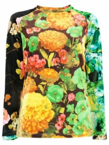 Richard Quinn floral fitted top - Multicolour