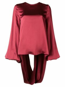 Rouge Margaux open-back draped blouse - Red
