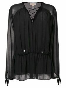 Michael Michael Kors lace up blouse - Black