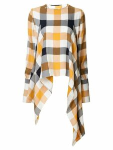 Monse checked asymmetric blouse - Multicolour