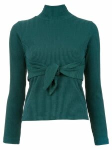 Framed Knots high neck top - Green