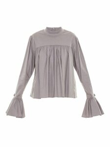 Framed ruffled blouse - Grey