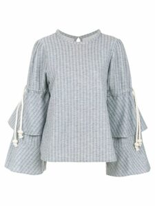 Framed Melange top - Grey