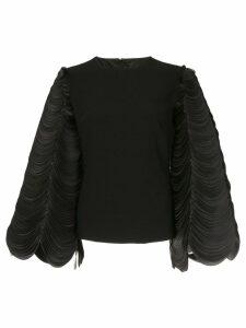 Isabel Sanchis circular sleeve top - Black
