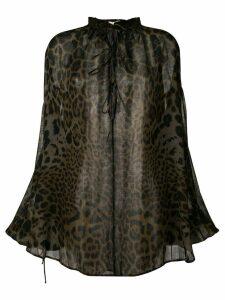 Saint Laurent leopard print blouse - Black