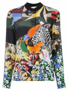 Mary Katrantzou zebra print blouse - Multicolour