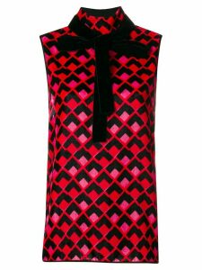Rochas sleeveless blouse - Red