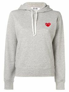 Comme Des Garçons Play logo embroidered hoodie - Grey