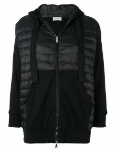 Moncler padded front hoodie - Black