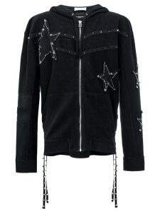 Faith Connexion pin embellished stars hoodie - Black