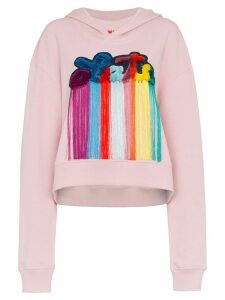 Mira Mikati late slogan hooded sweatshirt - PINK