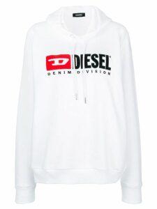 Diesel Denim Vision logo hoodie - White