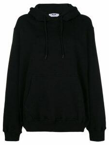MSGM logo print hoodie - Black