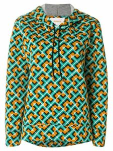 La Doublej Domino print hoodie - Multicolour