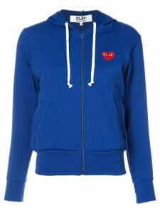 Comme Des Garçons Play zip up hoodie - Blue