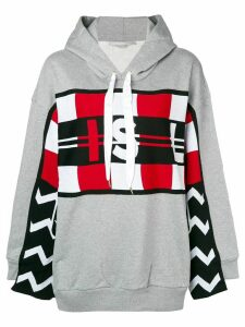 Stella McCartney graphic print hoodie - Grey
