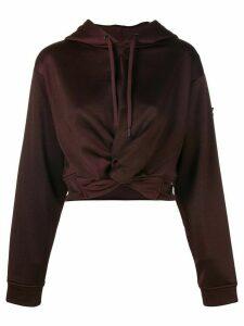 T By Alexander Wang hem knot hoodie - PINK