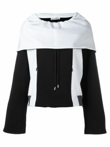 Paco Rabanne oversized zipped hoodie - Black