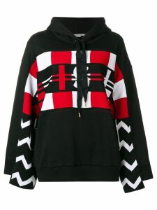Stella McCartney printed panel hoodie - Black