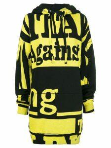 Maison Margiela Vitamin-print hoodie - Black