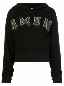 Amen logo patch hoodie - Black