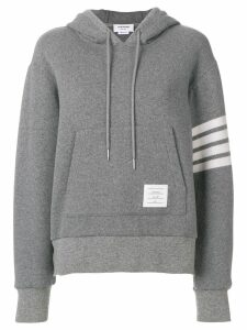 Thom Browne 4-bar relaxed cashmere hoodie - Grey
