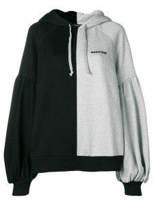 Wandering logo colour block hoodie - Grey
