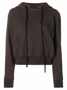 Unravel Project cropped hoodie - Brown