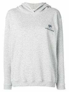 Chiara Ferragni embroidered logo hoodie - Grigio/Grey
