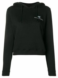 Chiara Ferragni embroidered logo hoodie - Black