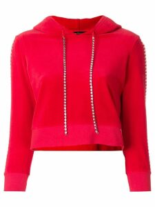Juicy Couture Swarovski embellished velour hoodie - Red