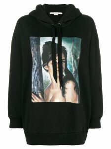 Stella McCartney graphic print hoodie - Black