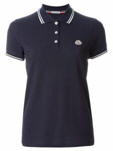 Moncler piped collar polo shirt - Blue