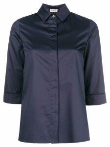 Blanca Vita three-quarter sleeved shirt - Blue