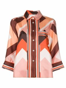 F.R.S For Restless Sleepers geometric print shirt - Multicolour