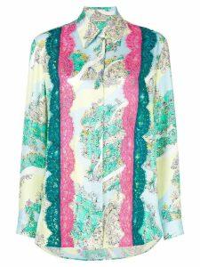 Emilio Pucci lace inserts floral shirt - Multicolour