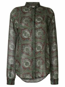 Saint Laurent Paisley long-sleeve shirt - Green