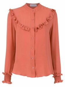 Olympiah ruffle details silk blouse - Pink