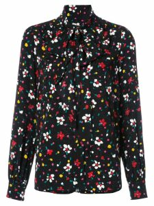 Marc Jacobs floral tie neck blouse - Black