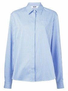 MSGM gingham check shirt - Blue