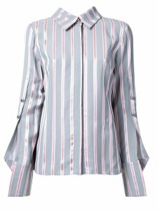 Monse buttoned sleeve striped shirt - Grey